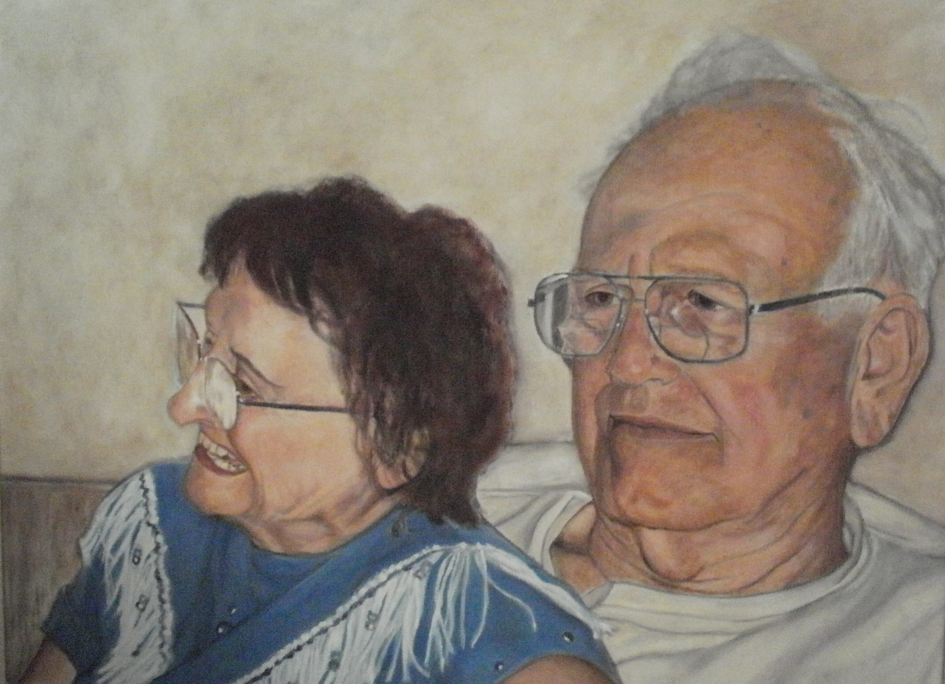 """Maxine and Bob"", oil on canvas, 2' x 3'"
