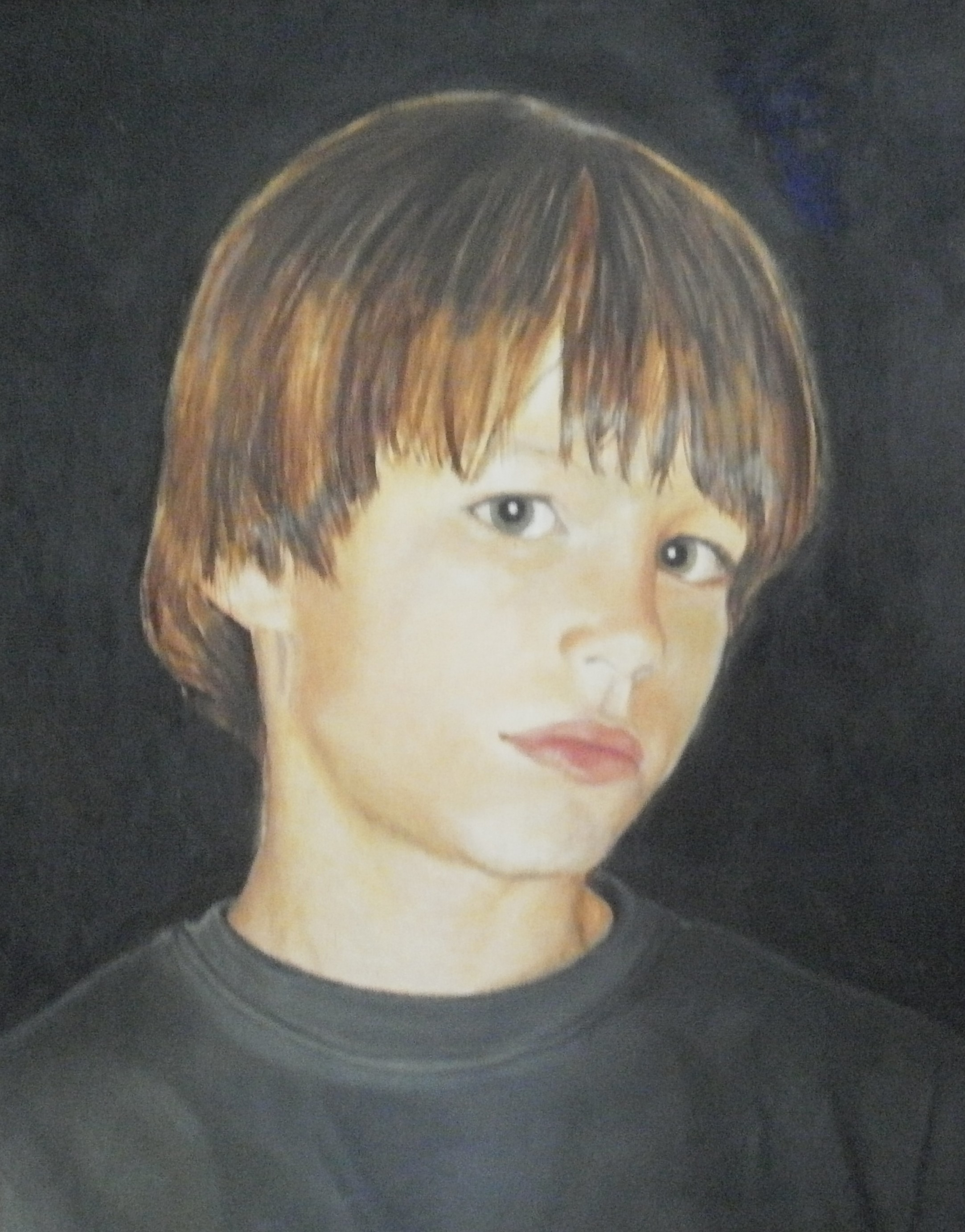 """Colby, age 5"", oil on canvas, 18"" x 24"""