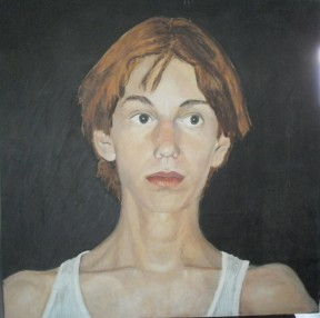 Portrait of Dancer, Chauncey. Oil on canvas.