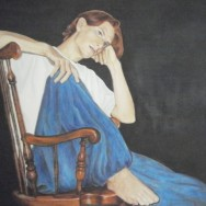 """Young Man Seated, Orin"", oil on canvas, 3' x 4'"