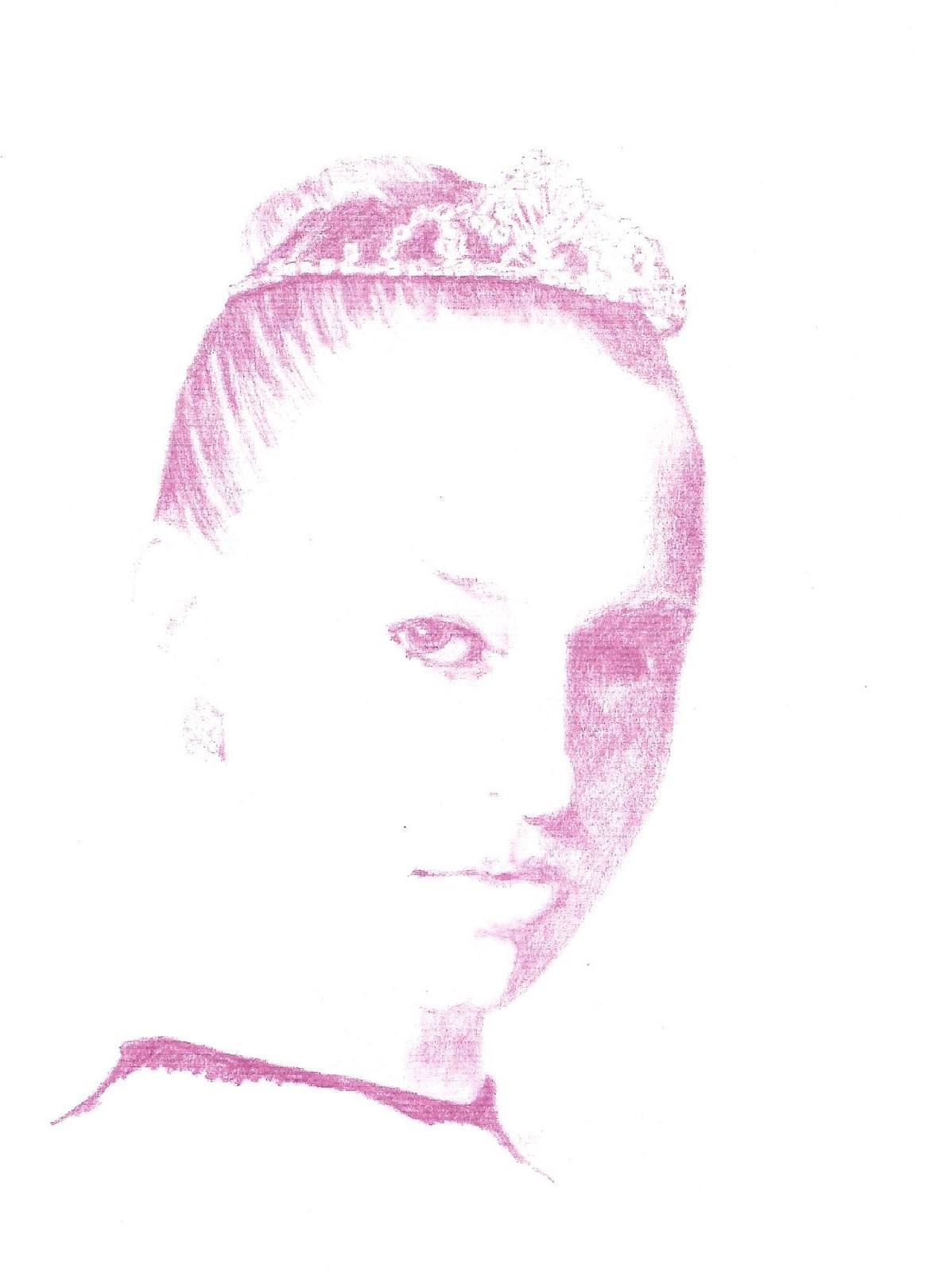 """Ballet Girl"", photocopy of graphite, 8"" x 10"""